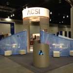 The company trade show booth