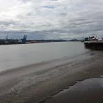 Walking along the pier in New West