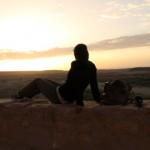 The sunrise at Ait Benhaddou