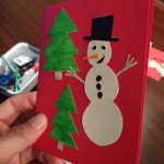 Making homemade Xmas cards