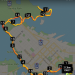 The route along False Creek