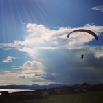 Paragliders at Clover Point