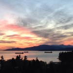 Beautiful sunset in Stanley Park